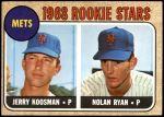 1968 Topps #177 A  -  Nolan Ryan / Jerry Koosman Mets Rookies Front Thumbnail