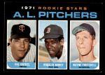 1971 Topps #692   -  Wayne Twitchell / Rogelio Moret / Hal Haydel  AL Rookies - Pitchers Front Thumbnail
