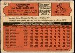 1972 O-Pee-Chee #132  Joe Morgan  Back Thumbnail