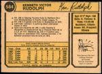 1974 O-Pee-Chee #584  Ken Rudolph  Back Thumbnail