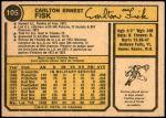 1974 O-Pee-Chee #105  Carlton Fisk  Back Thumbnail