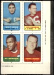 1969 Topps 4-in-1 Football Stamps  Walt Suggs / Len Dawson / Al Denson / Sherrill Headrick  Front Thumbnail