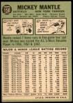 1967 Topps #150  Mickey Mantle  Back Thumbnail