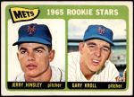 1965 Topps #449   -  Jerry Hinsley / Gary Kroll Mets Rookies Front Thumbnail