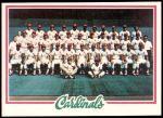 1978 Topps #479   Cardinals Team Checklist Front Thumbnail