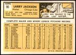 1963 Topps #95  Larry Jackson  Back Thumbnail
