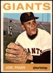 1964 Topps #123  Jose Pagan  Front Thumbnail