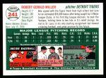 1954 Topps Archives #241  Bob Miller  Back Thumbnail