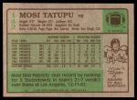 1984 Topps #142  Mosi Tatupu  Back Thumbnail