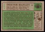 1984 Topps #383  Dexter Manley  Back Thumbnail