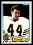 1982 Topps #413  Dave Waymer  Front Thumbnail