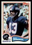 1982 Topps #424  Dave Jennings  Front Thumbnail