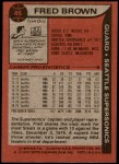 1979 Topps #46  Fred Brown  Back Thumbnail