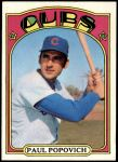 1972 Topps #512  Paul Popovich  Front Thumbnail