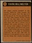 1972 Topps #495   -  Bill Melton Boyhood Photo Back Thumbnail