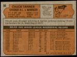 1972 Topps #98  Chuck Tanner  Back Thumbnail