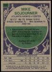 1975 Topps #62  Mike Sojourner  Back Thumbnail