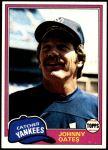 1981 Topps #303  Johnny Oates  Front Thumbnail