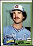 1981 Topps #44  Larry McWilliams  Front Thumbnail
