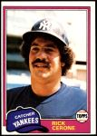 1981 Topps #335  Rick Cerone  Front Thumbnail