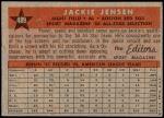 1958 Topps #489   -  Jackie Jensen All-Star Back Thumbnail