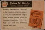1955 Bowman #260  Edwin Hurley  Back Thumbnail