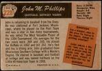 1955 Bowman #228  John Phillips  Back Thumbnail
