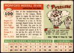 1955 Topps #100  Monte Irvin  Back Thumbnail