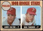 1968 Topps #348   -  Larry Colton / Dick Thoenen Phillies Rookies Front Thumbnail