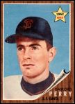 1962 Topps #199  Gaylord Perry  Front Thumbnail
