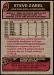 1977 Topps #443  Steve Zabel  Back Thumbnail