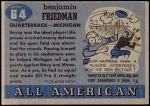 1955 Topps #64  Benny Friedman  Back Thumbnail