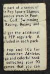 1937 Kellogg's Pep Sports Stamps  Jack Sharkey  Back Thumbnail