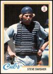 1978 Topps #252  Steve Swisher  Front Thumbnail