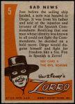 1958 Topps Zorro #5   Bad News Back Thumbnail