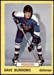 1973 Topps #27  Dave Burrows   Front Thumbnail