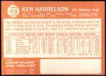 1964 Topps #419  Ken Harrelson  Back Thumbnail