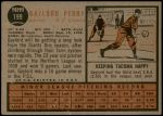 1962 Topps #199  Gaylord Perry  Back Thumbnail