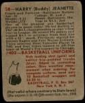 1948 Bowman #38  Buddy Jeanette  Back Thumbnail