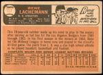 1966 Topps #157  Rene Lachemann  Back Thumbnail