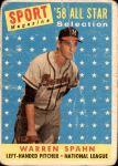 1958 Topps #494   -  Warren Spahn All-Star Front Thumbnail