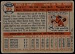 1957 Topps #95  Mickey Mantle  Back Thumbnail