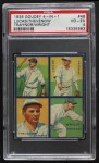 1935 Goudey 4-in-1  Pie Traynor / Glenn Wright / Red Lucas / Tommy Thevenow  Front Thumbnail