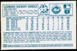 1978 Kellogg's #22  Lenny Randle  Back Thumbnail