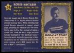 1953 Topps Who-Z-At Star #34  Ricardo Montalban  Back Thumbnail