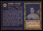 1953 Topps Who-Z-At Star #19  Audrey Totter  Back Thumbnail