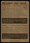 1953 Parkhurst #79  Clare Raglan  Back Thumbnail