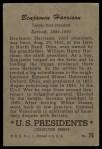 1952 Bowman U.S. Presidents #26  Benjamin Harrison  Back Thumbnail