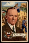 1952 Bowman U.S. Presidents #32  Calvin Coolidge   Front Thumbnail